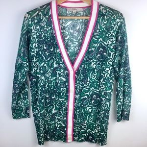 Ann Taylor Loft Morning Paisley Cardigan Sweater
